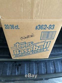 1993 Topps Baseball Unopened Wax Box Series 1 FACTORY SEALED DEREK JETER RC