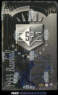 1993 UD SP Foil Factory Sealed Wax Box, 24ct Wax Packs, Derek Jeter RC (PWCC)