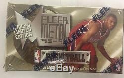 1995-96 Fleer Metal Series 2 Basketball Hobby Box Factory Sealed 24 Pack