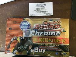 2000 Bowman Chrome Football Hobby Box Tom Brady RC. Factory Sealed. 24 Packs