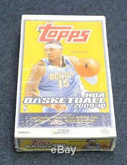 2009-10 TOPPS BASKETBALL FACTORY SEALED UNOPENED HOBBY WAX BOX CURRY RC YEAR