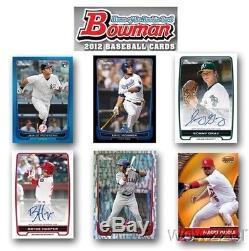 2012 Bowman Baseball MASSIVE Factory Sealed 6 Box Jumbo Rack CASE-2,160 Cards