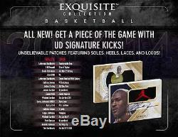 2013-14 UPPER DECK UD EXQUISITE BASKETBALL FACTORY SEALED 3 BOX CASE