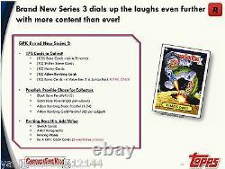 2013 GARBAGE PAIL KIDS BNS3 Series 3 Factory Sealed RETAIL BOX 24 packs/10ct