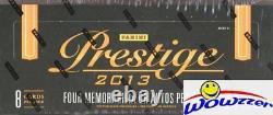 2013 Panini Prestige Football Factory Sealed HOBBY Box-4 AUTOGRAPH/MEM