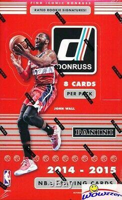 2014/15 Panini Donruss Basketball HUGE Factory Sealed HOBBY Box-3 AUTO/GU-192 Cd