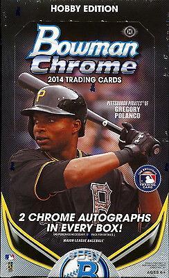 2014 Bowman Chrome Baseball Factory Sealed Hobby Case 12 Boxes Kris Bryant