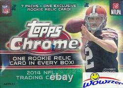 2014 Topps Chrome Football EXCLUSIVE Factory Sealed Blaster Box-RELIC CARD