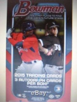 2015 Bowman Baseball Factory Sealed Jumbo 8 Box Case FREE S/H