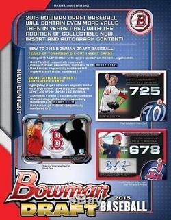 2015 Bowman Draft Factory Sealed Jumbo HTA Box Case PRESELL