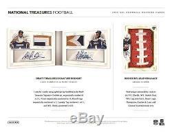 2015 Panini National Treasures Football Factory Sealed 4 Box Hobby Case Pre-Sale