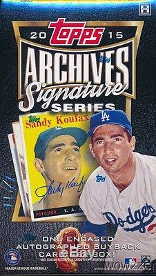 2015 Topps Archives Signature Series Baseball FACTORY SEALED 20 Box HOBBY CASE