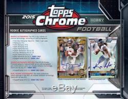 2015 Topps Chrome Football (11/20) Factory Sealed Hobby Box 24 Packs Per Box