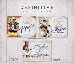 2015 Topps Definitive Football FACTORY SEALED Hobby Box Free S&H PRESELL
