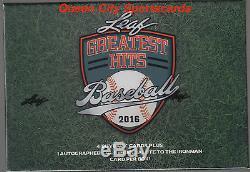 2016 Leaf Greatest Hits Baseball Factory Sealed Hobby Box