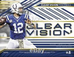 2016 Panini Clear Vision Football Factory Sealed Hobby Box