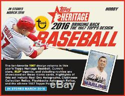 2016 Topps Heritage Baseball FACTORY SEALED Hobby 12 Box Case Free S&H