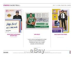 2017-18 Panini Status Basketball Factory Sealed Hobby box 10 packs/6 cards