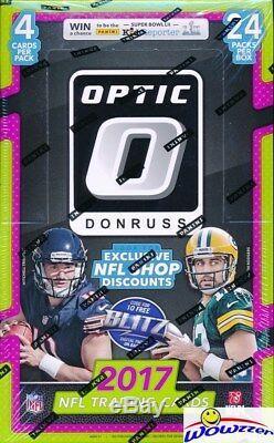 2017 Donruss Optic Football MASSIVE Factory Sealed 24 Pack Retail Box! Loaded
