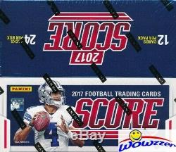 2017 Score Football MASSIVE Factory Sealed 24 Pack Retail Box with 288 Cards