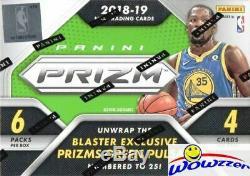 2018/19 Panini Prizm Basketball EXCLUSIVE Factory Sealed Blaster Box-AUTO/MEM
