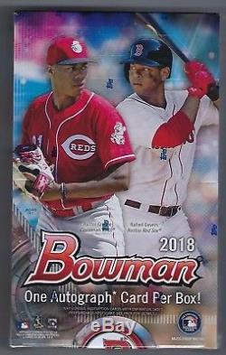 2018 Bowman Baseball Hobby Box Factory Sealed 24 Packs Per Box