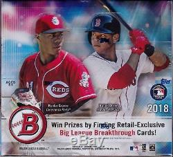 2018 Topps BOWMAN Baseball Retail 24 Pack Box Otani Soto Acuna Ozzie Rookie Auto