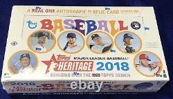 2018 Topps Heritage Baseball Hobby Box Factory Sealed -shohei Ohtani Autograph