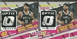 2019 20 Optic Basketball Factory Sealed Mega Box 42 Ct 2 Box Lot