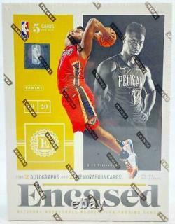 2019-20 Panini Encased Basketball Factory Sealed Unopened Hobby Box 4 Hits