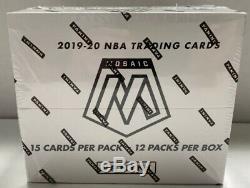 2019-20 Panini Mosaic NBA Basketball Factory Sealed Cello Box 12 Packs Zion