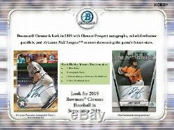 2019 BOWMAN CHROME Baseball HOBBY Box Factory Sealed IN STOCK FREE PRIORITY SHIP