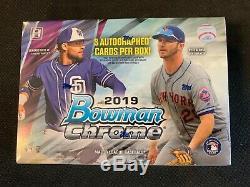 2019 Bowman Chrome Baseball Factory Sealed Hobby HTA CHOICE Box 3 AUTOS