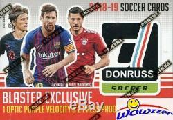 2019 Panini Donruss Soccer HUGE Factory Sealed Blaster Box-EXCLUSIVE OPTIC