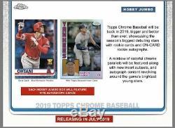 2019 Topps Chrome Baseball Factory Sealed Hobby Jumbo HTA Box PRE-SELL July 31