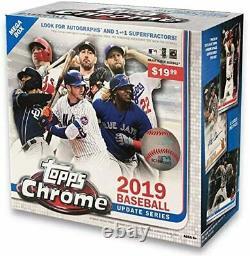 2019 Topps Chrome Update Series Baseball Mega Box Factory Sealed Unopened TATIS