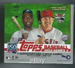2019 Topps Series 2 Baseball Factory Sealed Jumbo Box and 2 silver packs