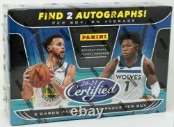 2020-21 Panini Certified Basketball Factory Sealed Unopened Hobby Box 10 Packs