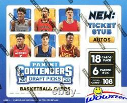 2020/21 Panini Contenders Draft Picks Basketball Factory Sealed HOBBY Box-6 AUTO