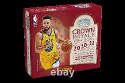 2020-21 Panini Crown Royale Basketball Factory Sealed Hobby Box