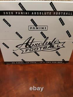2020 Absolute Football Factory Sealed Cello Fat Pack Box -Justin Herbert/Burrow