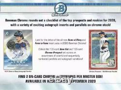 2020 BOWMAN Chrome Baseball HOBBY BOX Factory Sealed 2 AUTOS PRE-SALE