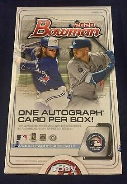 2020 Bowman Baseball Factory Sealed Hobby Box 24 packs