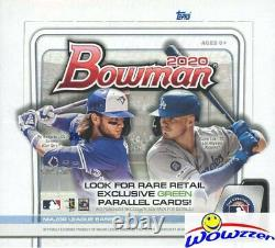 2020 Bowman Baseball MASSIVE 24 Pack Factory Sealed Retail Box-288 Card! On FIRE