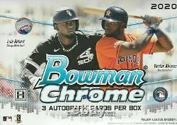 2020 Bowman Chrome Baseball HTA Choice Factory Sealed Box
