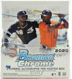 2020 Bowman Chrome Baseball Hobby Factory Sealed Box