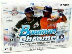 2020 Bowman Chrome HTA Choice Factory Sealed Jumbo Box