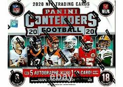 2020 Panini Contenders Football NFL Factory Sealed Hobby Box