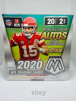 2020 Panini Mosaic Football NFL Mega Box Walmart Exclusive New Factory Sealed