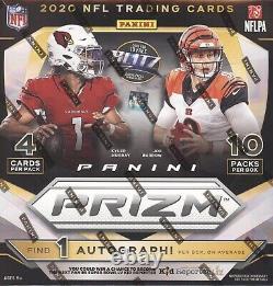 2020 Panini Prizm Football Cards Factory Sealed 10 Pack Mega Box 1 Auto Per